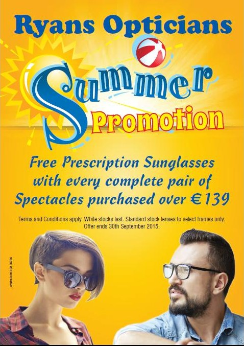 Ryans Opticians Summer Promotion